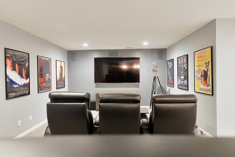 Basement Remodel with Theater